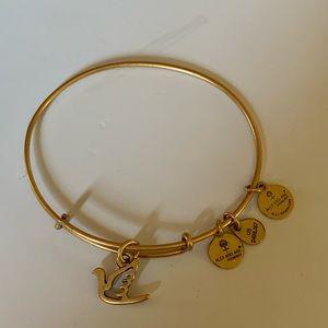 Alex & Ani Gold Dove Bracelet